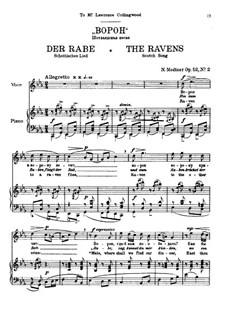 Seven Songs after Pushkin, Op.52: No.2-7 by Nikolai Medtner