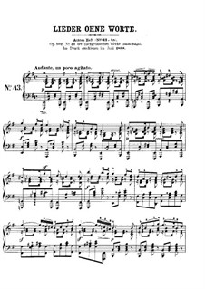 Songs without Words, Op.102: No.1 Andante un poco agitato by Felix Mendelssohn-Bartholdy
