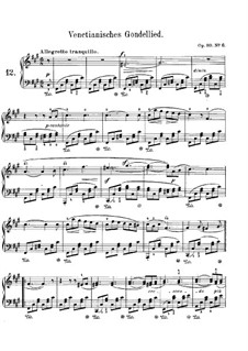 Songs without Words, Op.30: No.6 Allegretto tranquillo by Felix Mendelssohn-Bartholdy