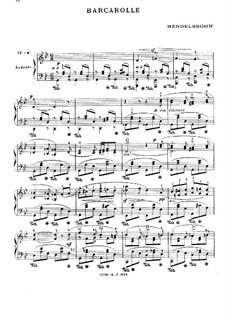 Barcarolle in G Minor: Barcarolle in G Minor by Felix Mendelssohn-Bartholdy