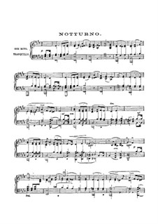 Nocturne: For piano by Felix Mendelssohn-Bartholdy
