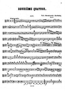 Piano Quartet No.2 in F Minor, Op.2: Viola part by Felix Mendelssohn-Bartholdy