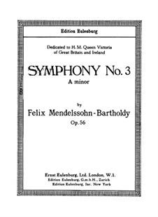 Symphony No.3 in A Minor 'Scottish', Op.56: Full score by Felix Mendelssohn-Bartholdy