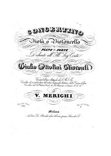Concertino for Viola (or Cello) and Piano: Concertino for Viola (or Cello) and Piano by Vincenzo Merighi
