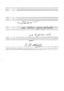 Fantasia on 'Die letzten Gedanken' by Weber: For guitar (manuscript) by Johann Kaspar Mertz