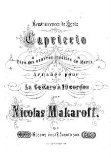 Capriccio: For guitar by Johann Kaspar Mertz