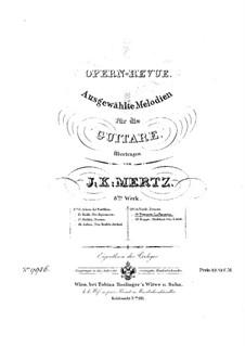 La favorita: Selected Melodies, for Guitar by Gaetano Donizetti