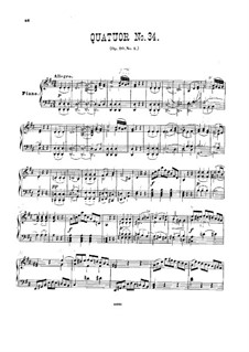 String Quartet No.27 in D Major, Hob.III/34 Op.20 No.4: Version for piano by Joseph Haydn