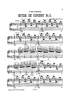 Two Concert Etudes, Op.15: Etude No.2 by Sebastian Bach Mills