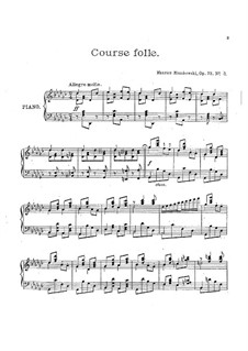 Three Pieces for Piano , Op.73: No.3 Course folle by Moritz Moszkowski
