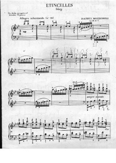 Eight Characteristic Pieces, Op.36: No.6 Étincelles (Sparks) by Moritz Moszkowski
