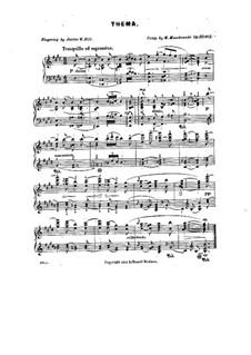 Sketches. Four Little Pieces, Op.10: No.2 Thema (Theme) by Moritz Moszkowski