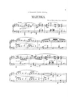 Three Pieces for Piano, Op.34: No.3 Mazurka by Moritz Moszkowski