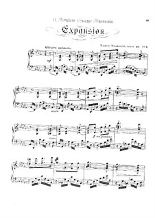 Eight Characteristic Pieces, Op.36: No.3 Expansion by Moritz Moszkowski