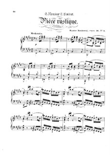Eight Characteristic Pieces, Op.36: No.8 Pièce rustique by Moritz Moszkowski