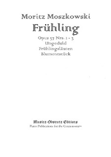 Frühling (Spring), Op.57: For piano by Moritz Moszkowski