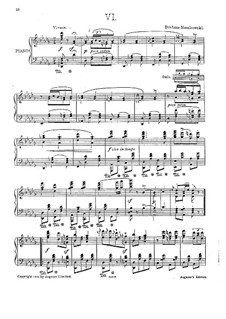 Dance No.4 in F Sharp Minor: For piano by Johannes Brahms