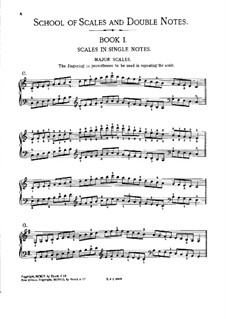 School of Scales and Double Notes, Op.64: Book I by Moritz Moszkowski