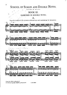 School of Scales and Double Notes, Op.64: Book III by Moritz Moszkowski