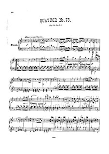String Quartet No.58 in F Major, Hob.III/73 Op.74 No.2: Version for piano by Joseph Haydn