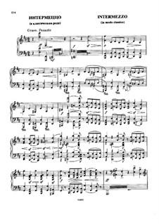 Intermezzo in Modo Classico (Intermezzo in the Classic Style): For piano (Second edition) by Modest Mussorgsky