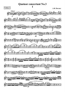 Quatuor concertant No.3: Parts by Jean-Baptiste Davaux