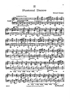 Nell Gwyn: Pastoral Dance, for piano by Edward German