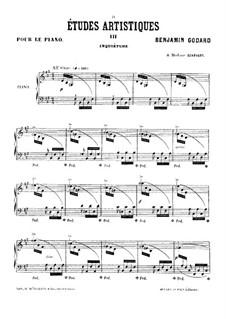 Études artistiques, Op.42: No.3 Inquiétude by Benjamin Godard