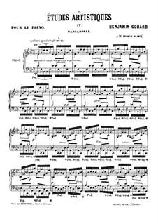 Études artistiques, Op.42: No.4 Barcarolle by Benjamin Godard