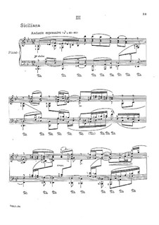 Sonata for Violin No.1 in G Minor, BWV 1001: Movement III. Arrangement for piano by Johann Sebastian Bach
