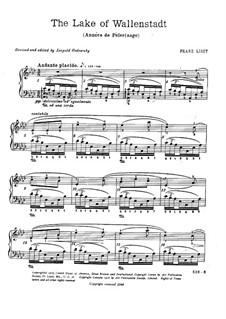 Première année. Suisse, S.160: No.2 Au lac de Wallenstadt by Franz Liszt