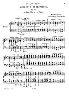 Momento Capriccioso, J.56 Op.12: For piano by Carl Maria von Weber