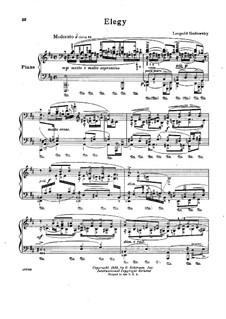 Elegy: For piano by Leopold Godowsky