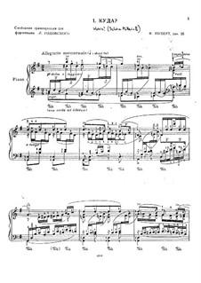 No.2 Wohin (Where to): Piano score by Franz Schubert