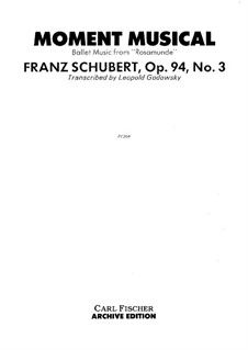 Six Musical Moments, D.780 Op.94: Musical moment No.3. Version by Godowsky by Franz Schubert