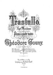 Trastullo. Seven Pieces for Piano Four Hands, Op.81: Trastullo. Seven Pieces for Piano Four Hands by Louis Théodore Gouvy