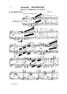 Grande polonnaise, Op.92: Grande polonnaise by Friedrich Kalkbrenner