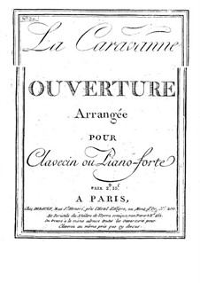 Overture to 'La caravane du Caire': For violin and harpsichord by André Grétry