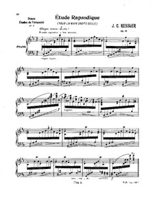 Étude Rapsodique, Op.51: For piano by Joseph Christoph Kessler