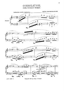 Consolation, Op.473: Consolation by Fritz Kirchner