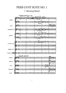 Suite No.1, Op.46: Full score by Edvard Grieg
