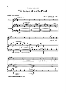 Three Poems for Voice and Piano, Op.11 No.1-3: Three Poems for Voice and Piano by Charles Tomlinson Griffes