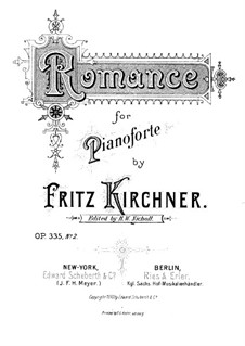 Romance for Piano, Op.335, No.2: Romance for Piano by Fritz Kirchner