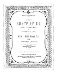 Kleine bunte Reihe für Violine und Klavier, Op.20: Solo part by Valdemar Fini Henriques