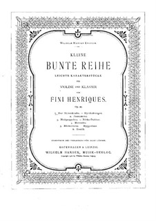 Kleine bunte Reihe für Violine und Klavier, Op.20: Score by Valdemar Fini Henriques