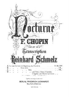 Nocturnes, Op.27: No.2, for string quintet – violin I part by Frédéric Chopin