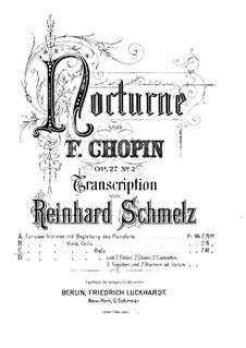 Nocturnes, Op.27: No.2, for string quintet – viola part by Frédéric Chopin