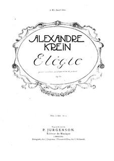 Elegy for Piano Trio, Op.16: Full score by Alexander Krein