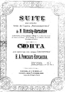 The Snow Maiden: Suite, for piano four hands by Nikolai Rimsky-Korsakov