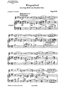 Cradle Song (Berceuse): For cello and piano by Hugo Wolf